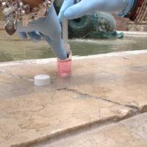 Punti di prelievo dei campioni d'acqua per le analisi microbiologiche: vani tecnici (alimentazione,  addolcitore, ricircolo e vasca di accumulo) e acqua in fontana