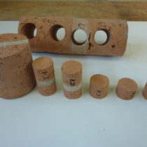 Cilindri con strato mediano di malta o di solo mattone ottenuti dalla carota C1