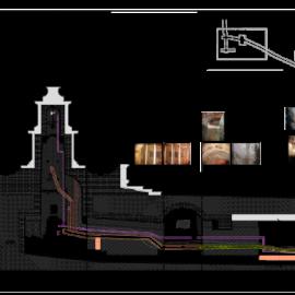 Elaborato che mostra la mappatura del degrado nel cunicolo sotterraneo.